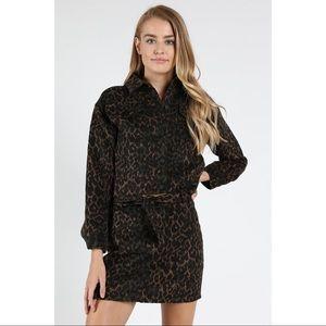 Leopard Crop Jacket